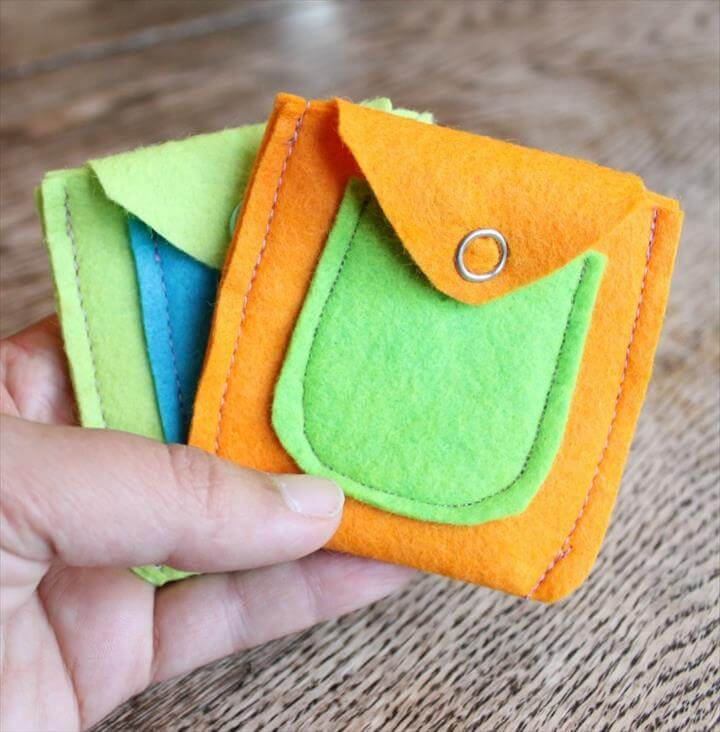 felt coin purse with a free template