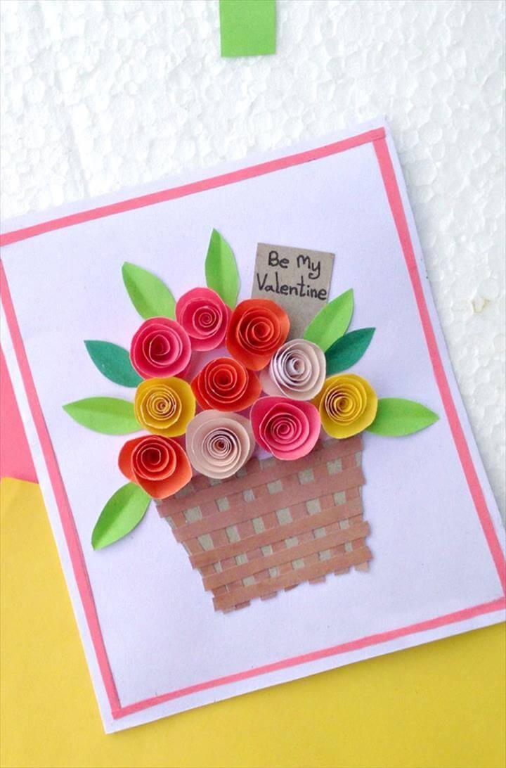 paper flower cards