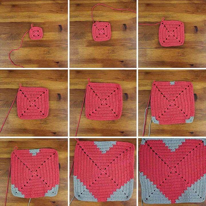 Free Crochet Pattern for a Heart Place Mat Crochet Ideas