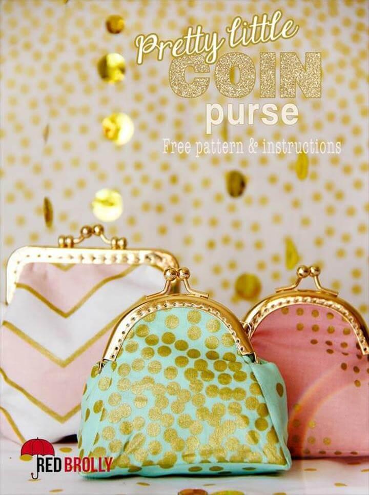 DIY Pretty little coin purse {free pattern}
