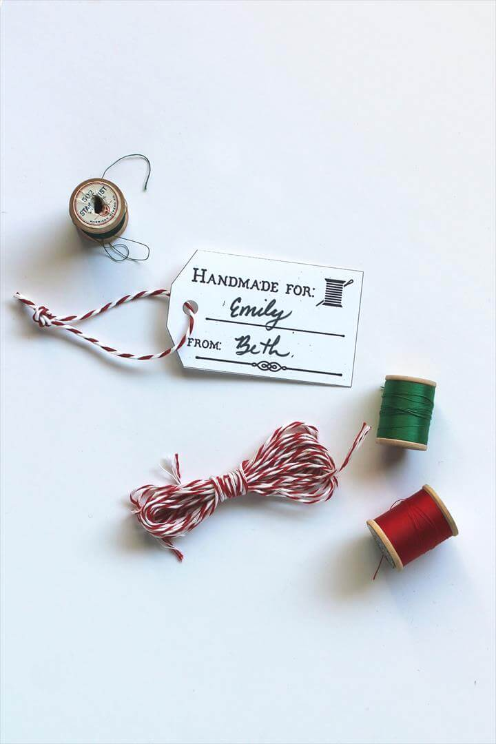 Free Printable Gift Tags for Handmade Gifts