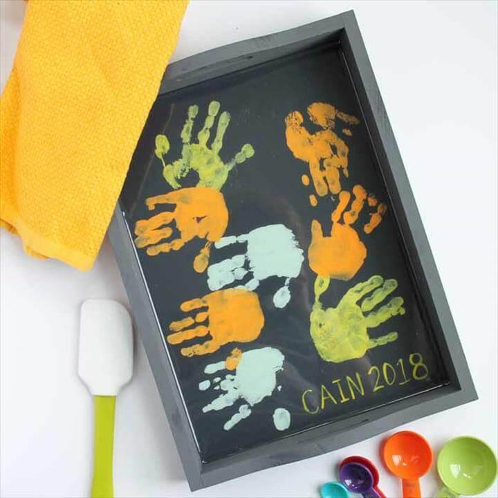 DIY Hand Print Tray