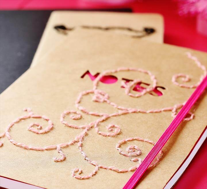 Hand-Stitched Notebook diy