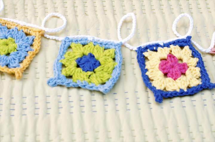 handmade crochet garland