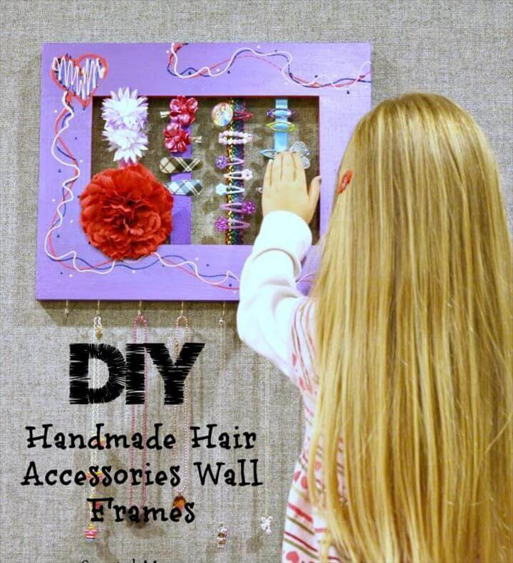 Handmade Hair Accessories Wall Frames – A Unique DIY Project