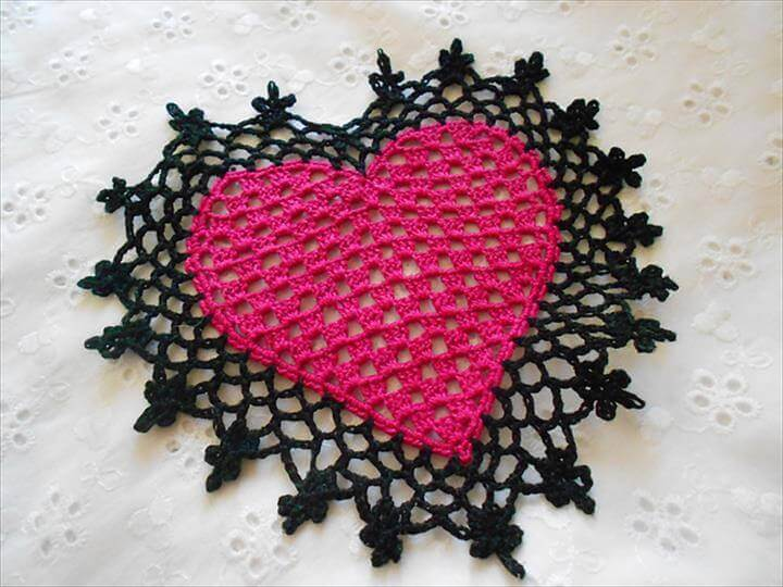 Heart Coaster or Mini Doily