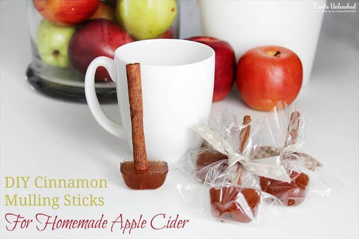 Spicy Cinnamon Mulling Sticks for Homemade Apple Cider