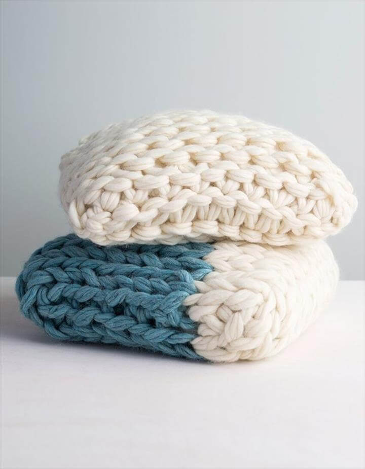 Knitting Patterns Pillow This arm knit pillow will be a great addition to your bedroom decor