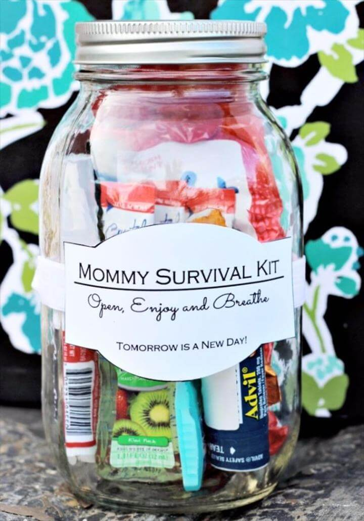 DIY Mothers Day Gift Ideas - Mommy Survival Kit - Homemade Gifts for Moms - Crafts