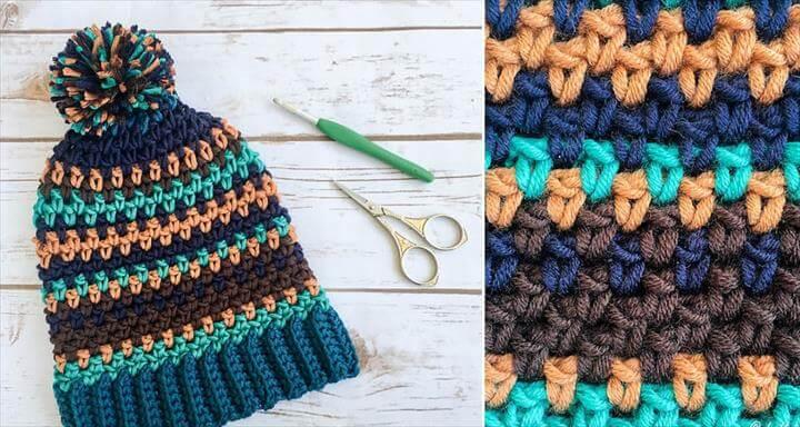 Crochet Moody Pumpkins Slouch Hat - Free Pattern