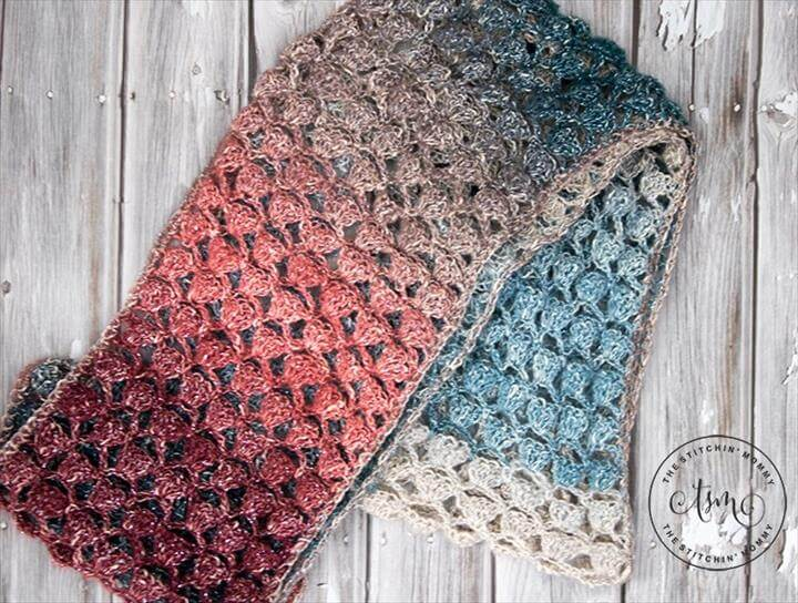 Moonlight Stroll Infinity Scarf - Free Crochet Pattern - Scarf of the Month Club hosted by