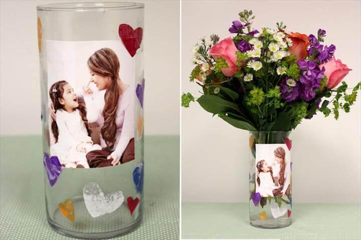 MOTHER'S DAY CRAFTS FOR KIDS: DIY PHOTO VASE
