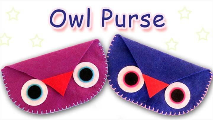DIY owl coin purse