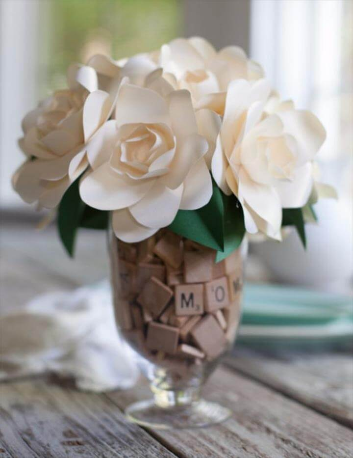 Paper Crafted Gardenia