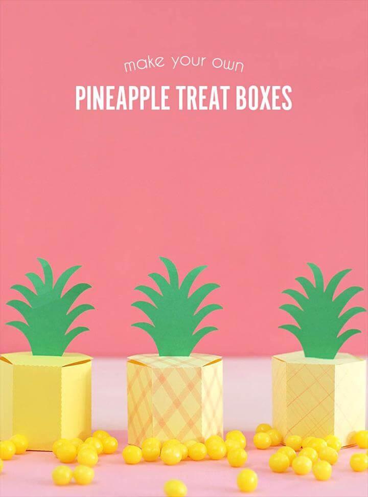 Gift Box Template Pineapple Treat Bo Consumer Crafts. Pineapple Treat Bo Free Gift Box Template