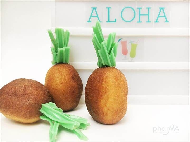 Pineapple Donut Holes