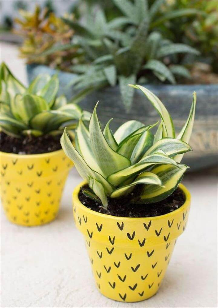 DIY Pineapple Flower Pots - Time Out With Mom