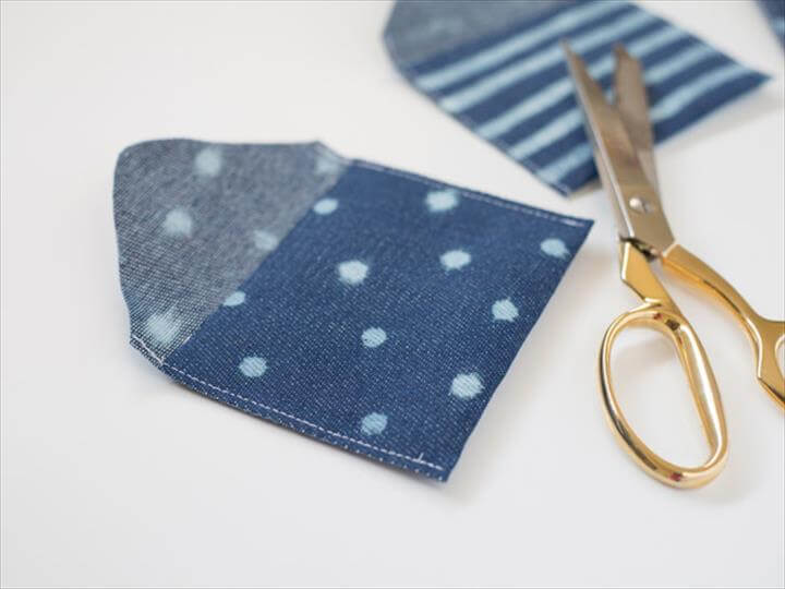 DIY Bleach Patterned Fabric Coin Pouch