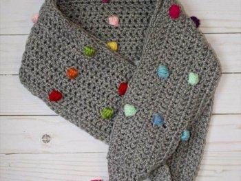The Confetti Scarf, Crochet Scarf/ Infinity Scarf/ Crochet Scarf Pattern/ Crochet Pattern/ Textured Scarf/ Crochet Mega Scarf
