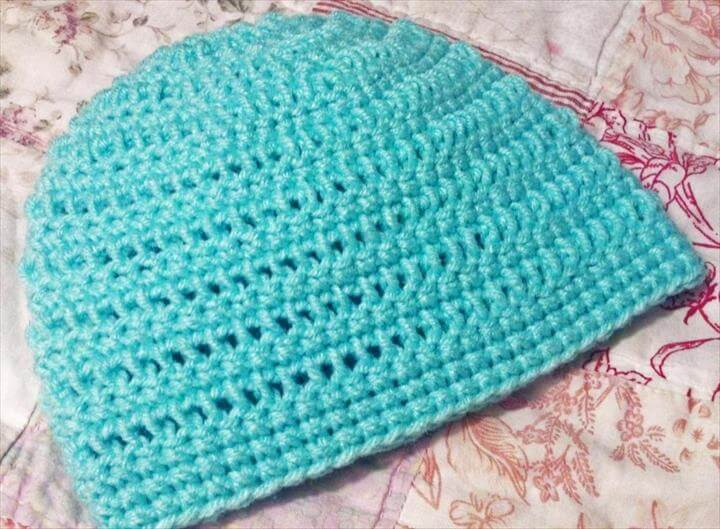 Simple Baby Hat Beanie Crochet Pattern