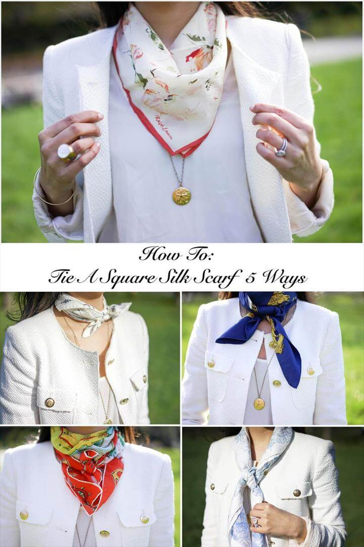 How To: Tie A Square Silk Scarf 5 Ways