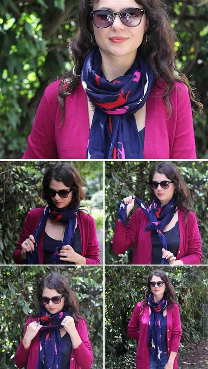 stylish ways to tie a scarf