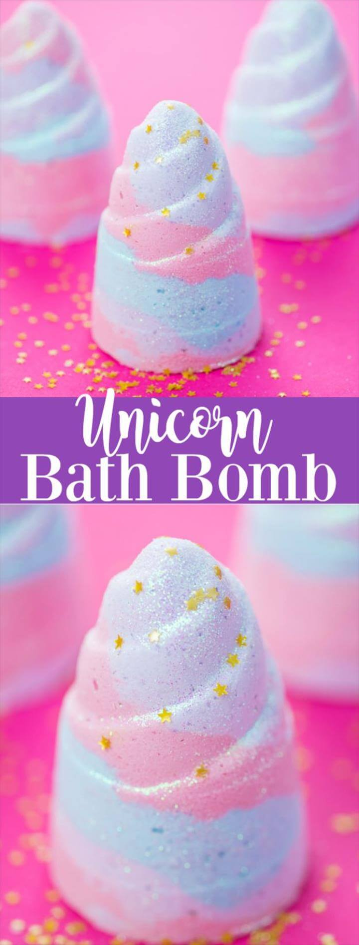 Cool DIY Bath Bombs to Make At Home - Unicorn Bath Bomb - Recipes and Tutorial