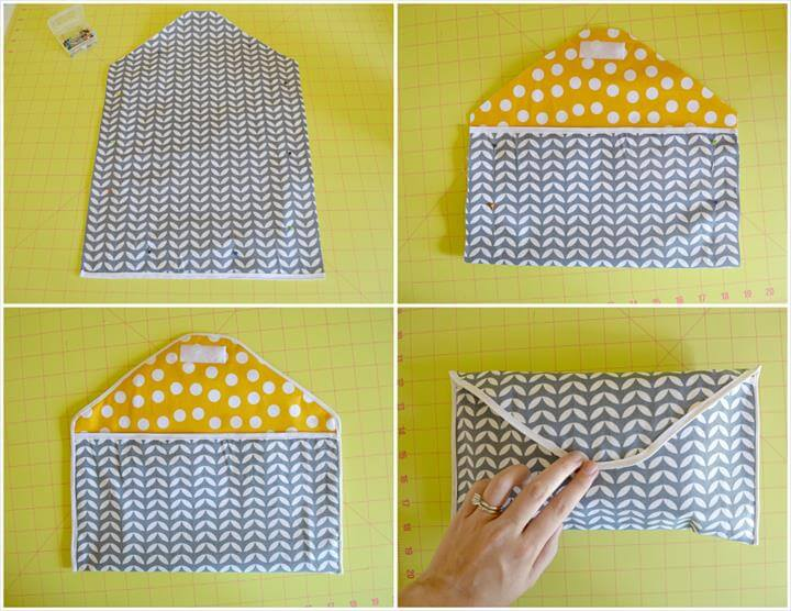 adorable DIY diaper clutch is so easy