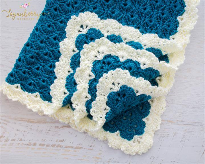 Antique Charm Crochet Blanket + Free Pattern + Tutorial, Crochet Baby Blanket Pattern, ...