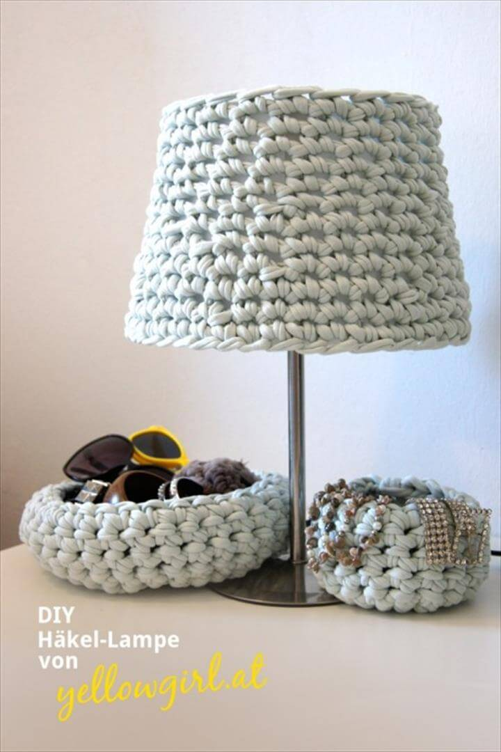 cozy crocheted lampshade