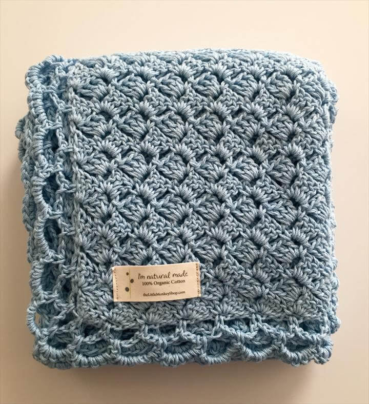 Crochet Pattern - Baby Blue Baby Blanket, Baby and Baby Blanket Crochet Patterns Tags: baby blanket boy, baby blanket heirloom, blue baby blanket, crochet pattern, crochet pattern baby, crochet pattern baby blanket, crochet pattern boys, easy crochet pattern