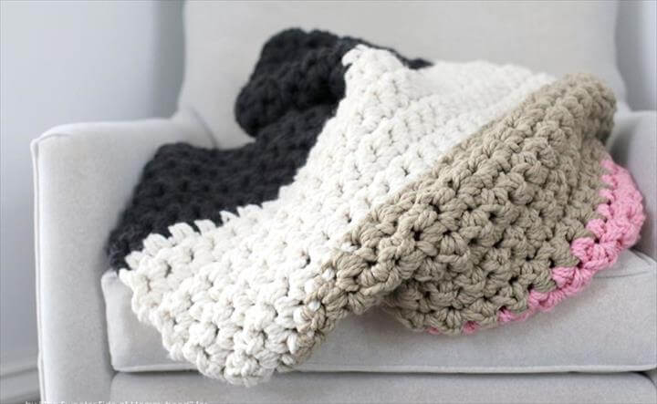 Crochet a Chunky Blanket....an affordable beginner project