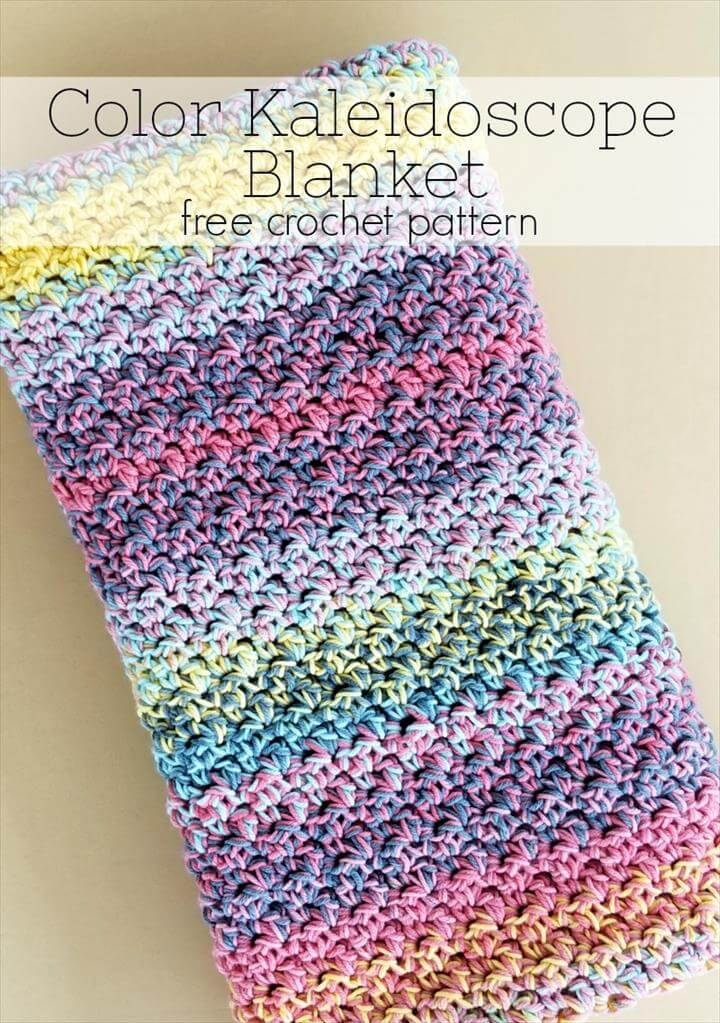 Color Kaleidoscope Crochet Blanket
