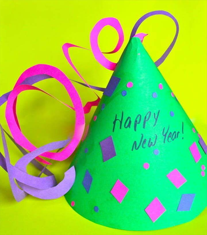 diy hat, party hat, new year, party
