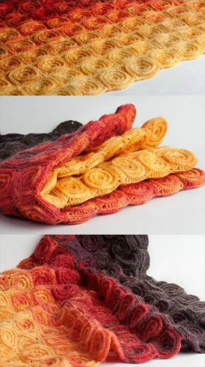 Fire Blanket Crochet Pattern- Crochet Blanket Patterns