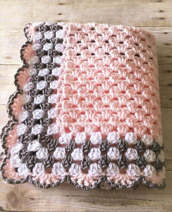 Pink Grey Baby Blanket, Pink Grey Baby Blanket, Pink Baby Blanket, Crochet Baby Blanket, Pink Crochet Afghan, Baby Afghan Pink Grey Blanket Crochet Blanket Handmade, Pink Baby Blanket, Crochet Baby Blanket, Pink Crochet Afghan, Pink Baby Afghan, Pink Gray Blanket, Crochet Baby Blanket, Handmade Blanket, Baby Shower Gift, Ready to Ship, Baby Afghan, Crochet Blanket, Newborn Baby Blanket
