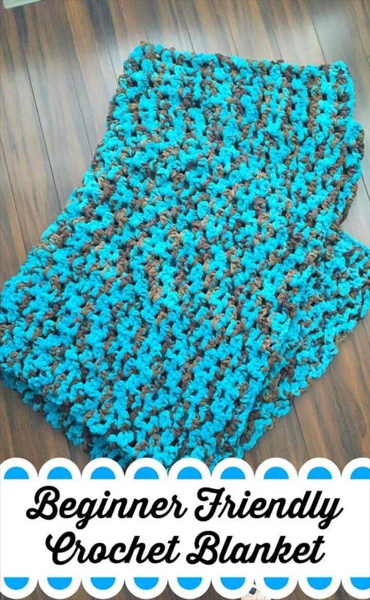Easy Blanket Crochet Pattern, Crocheted, Crochet, Crochet blanket patterns, Blanket yarn