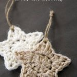 Cute easy crochet projects simple crochet star pattern christmas ornaments. a fun and easy holiday