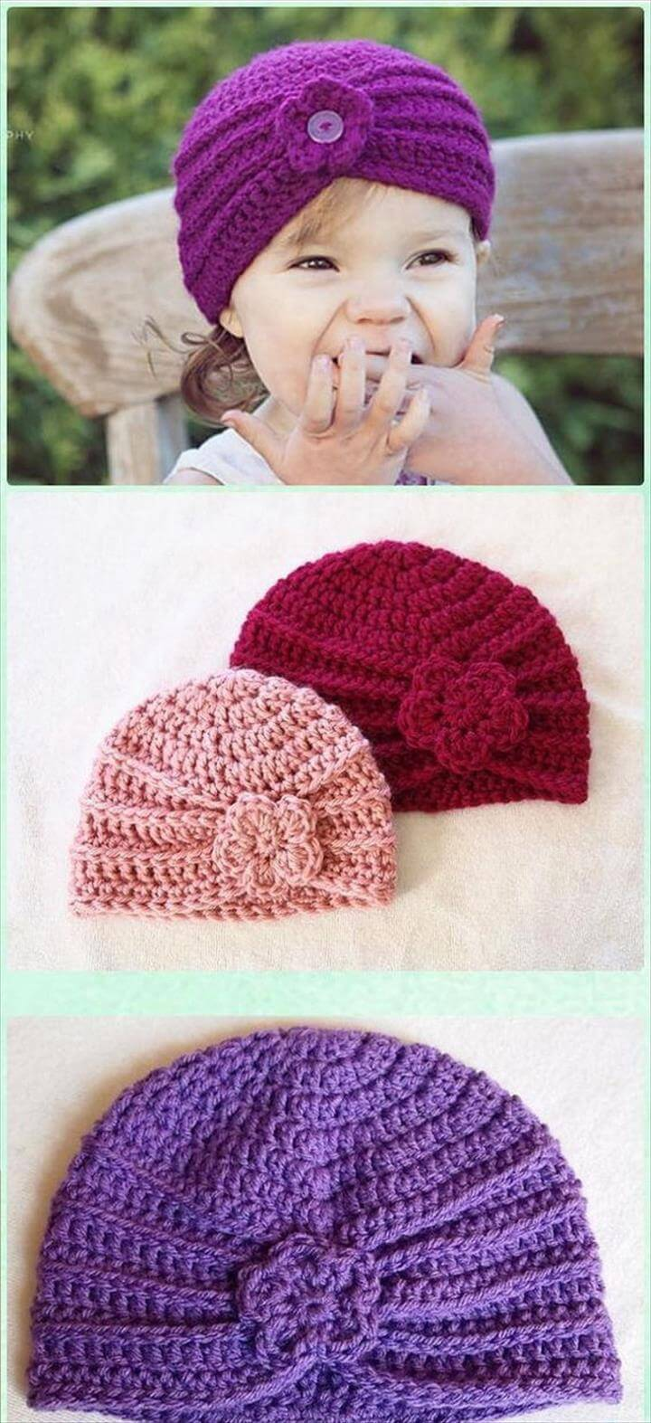 Crochet Turban Hat Free Patterns. Bring a pop of fun color to crochet this simple
