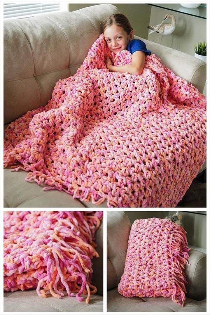 Crochet Sofa Blanket