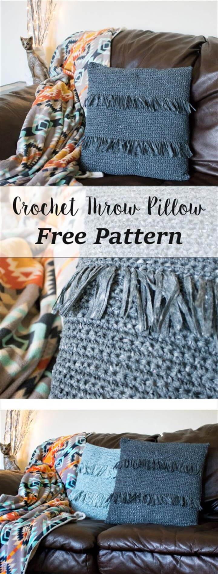 Crochet Throw Pillow – free crochet pattern