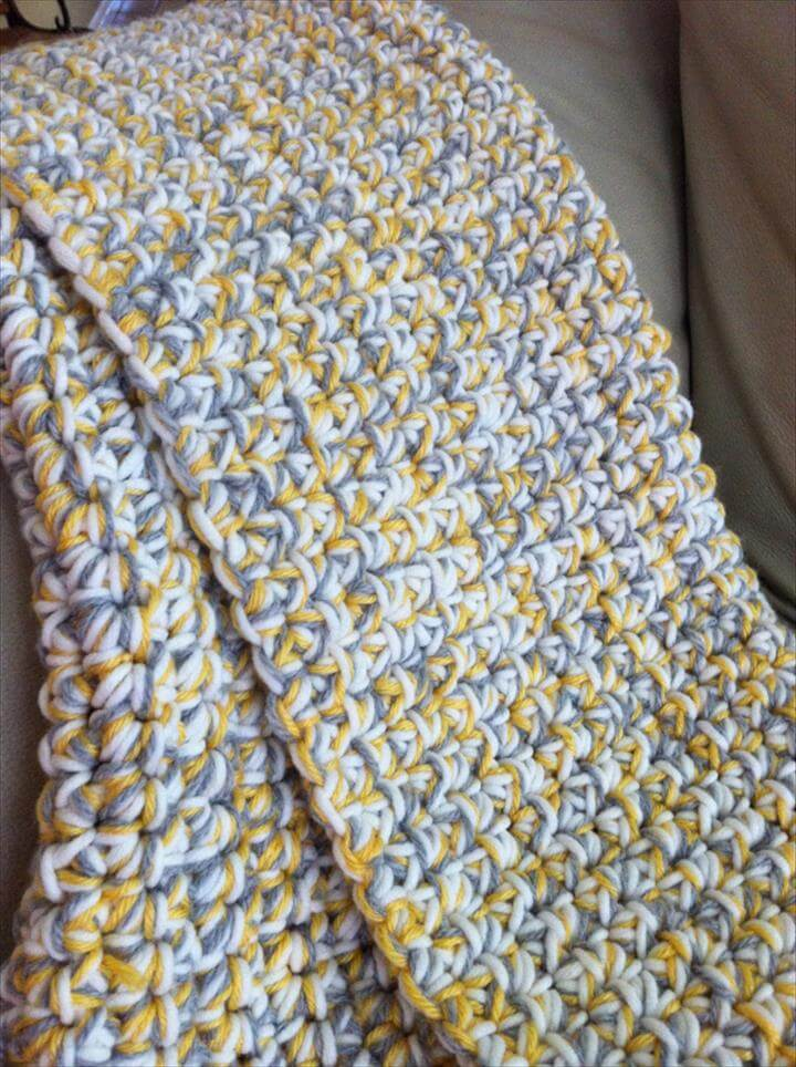 Chunky Crochet Baby Blanket – Tutorial