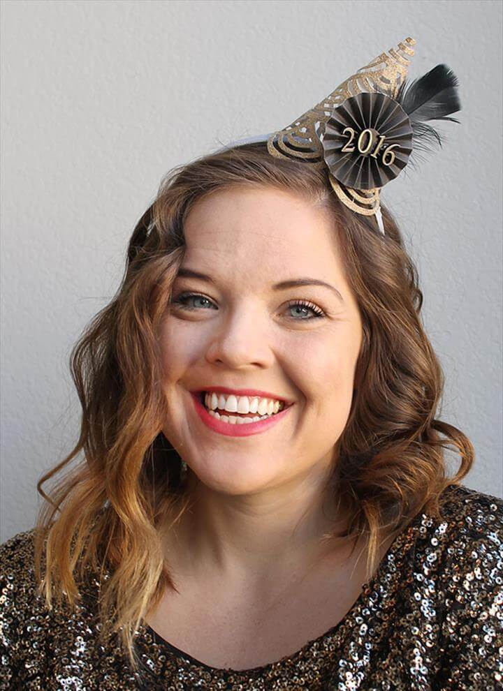 New Year DIY Party Hat Tutorial
