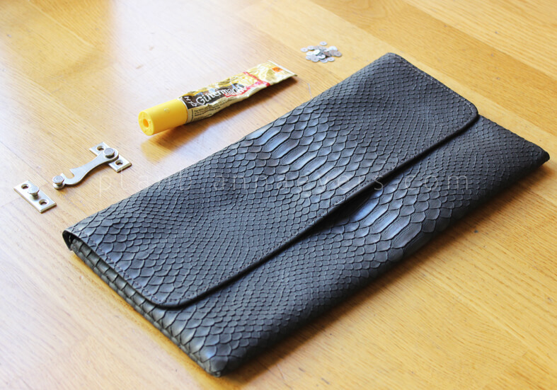 DIY Clutch with latch materials