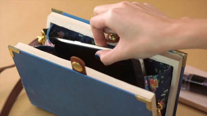 DIY clutch is perfect for book worms