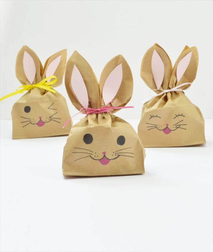 diy easter bunny favor or treat bags craft