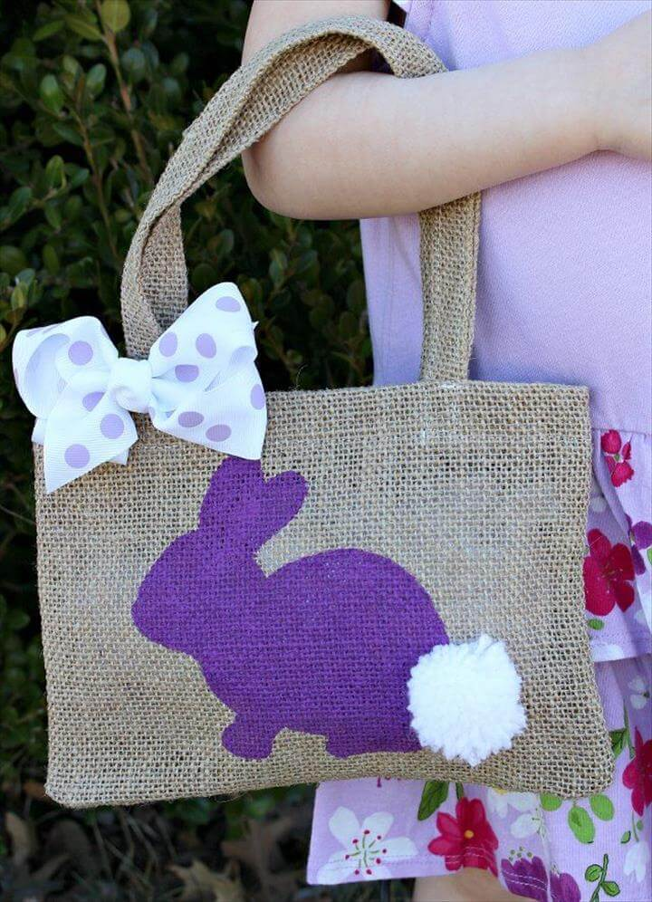 DIY Burlap Bunny Bag