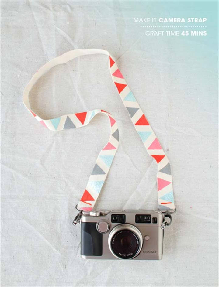 DIY Gifts for Teens - DIY Camera Strap - Cool Ideas for Girls and Boys,
