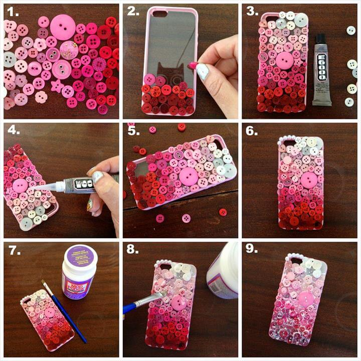 "DIY For the Day ""Pretty Mobile Phone Case"