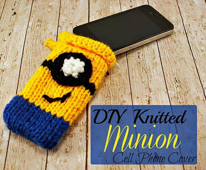 DIY Minion Cell Phone Cover